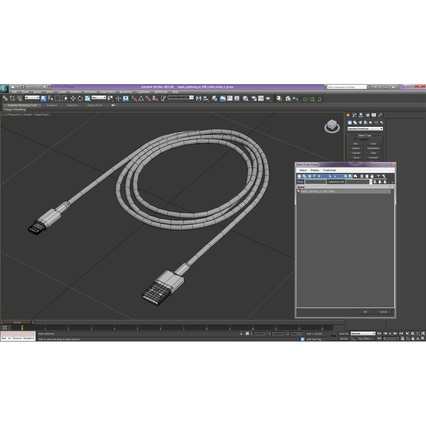 Apple Lightning to USB Cable. Render 23