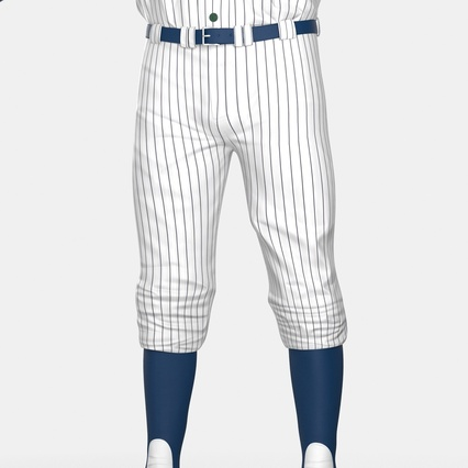 Baseball Player Outfit Generic 8. Render 24