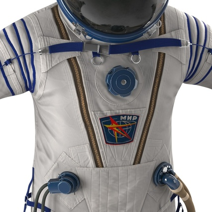 Russian Space Suit Sokol KV2 Rigged. Render 39