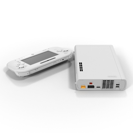 Nintendo Wii U Set White. Render 11