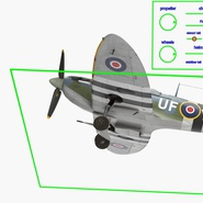 Royal Air Force Fighter Supermarine Spitfire LF Mk IX Rigged. Preview 5