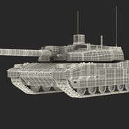 French Army Tank AMX-56 Leclerc Rigged. Preview 5