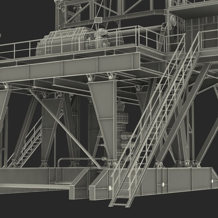 Fracking Gas Platform. Render 52
