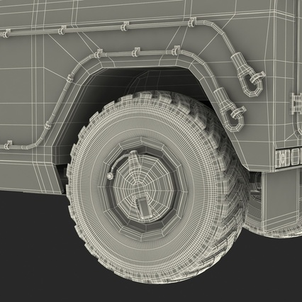 Russian Mobility Vehicle GAZ Tigr M Rigged. Render 91