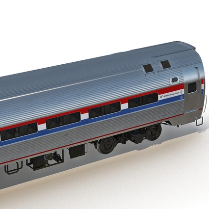 Railroad Amtrak Passenger Car 2. Render 20