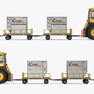 Push Back Tractor Hallam HE50 Carrying Passengers Luggage Rigged. Preview 9