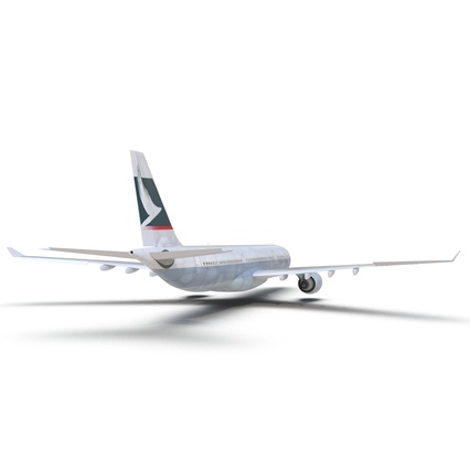 Jet Airliner Airbus A330-300 Cathay Pacific Rigged. Render 22