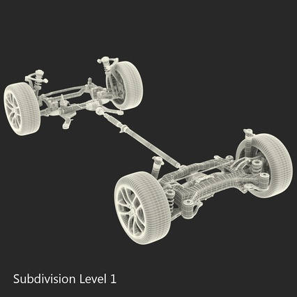 Sedan Chassis. Render 42