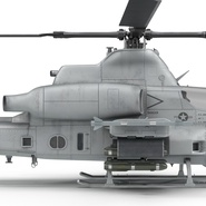Attack Helicopter Bell AH 1Z Viper Rigged. Preview 78
