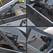 Tug 660 Aircraft Belt Loader Rigged. Preview 21