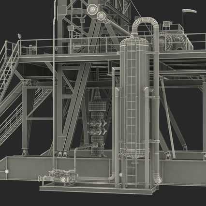 Fracking Gas Platform. Render 50