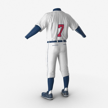Baseball Player Outfit Generic 8. Render 12