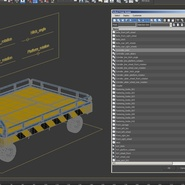 Airport Transport Trailer Low Bed Platform Rigged. Preview 27