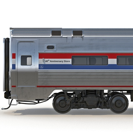 Railroad Amtrak Passenger Car 2. Render 31