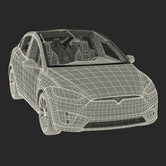 Tesla Model X Rigged. Preview 86