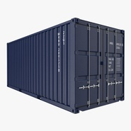 20 ft ISO Container Blue 2