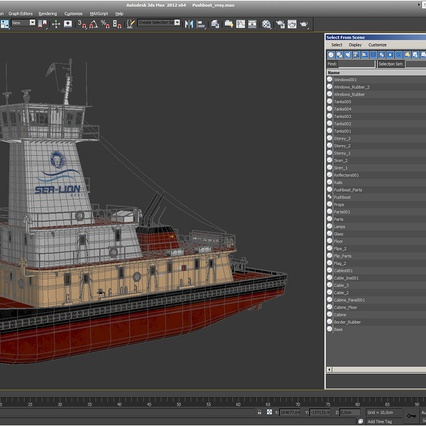 Pushboat. Render 36