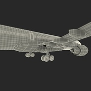Jet Airliner Airbus A330-300 Emirates Rigged. Preview 64