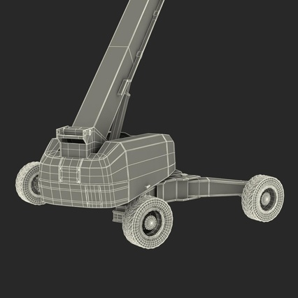 Telescopic Boom Lift Generic 4 Pose 2. Render 84