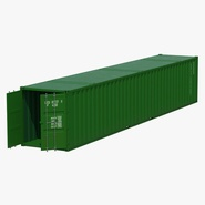 48 ft Shipping ISO Container Green