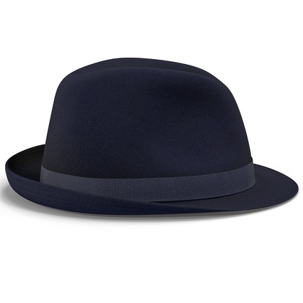 Fedora Hat Blue. Render 9