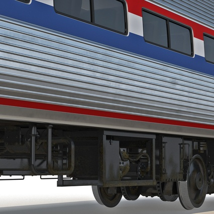 Railroad Amtrak Passenger Car 2. Render 36