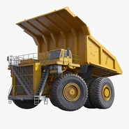 Heavy Duty Dump Truck Generic Yellow Rigged