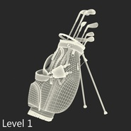Golf Bag Seahawks with Clubs. Preview 18