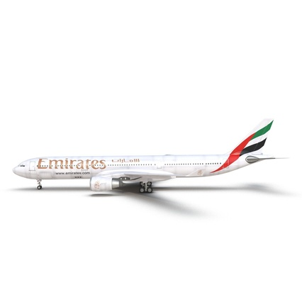 Jet Airliner Airbus A330-300 Emirates Rigged. Render 20