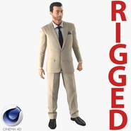 Mediterranean Businessman Rigged 2 for Cinema 4D
