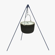 Outdoor Camping Tripod with Pot
