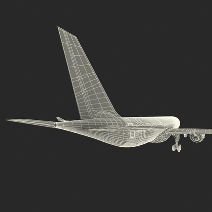 Jet Airliner Airbus A330-300 Emirates Rigged. Render 63