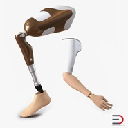 Prosthetic Leg and Arm Rigged Collection