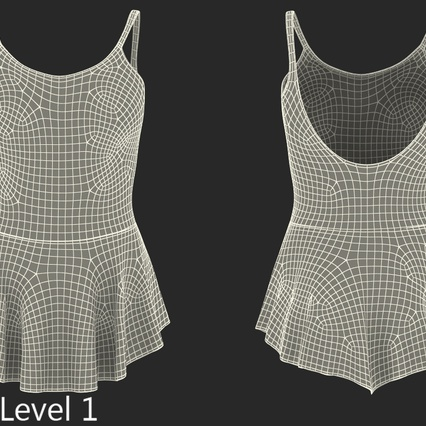 Female Figure Skater Suit 2. Render 15