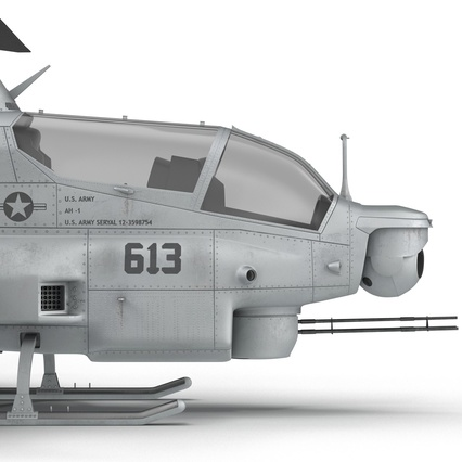 Attack Helicopter Bell AH 1Z Viper Rigged. Render 76