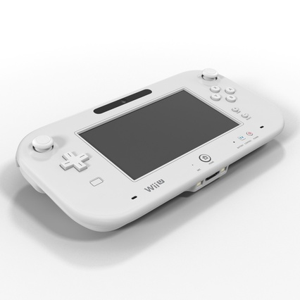 Nintendo Wii U Set White. Render 28