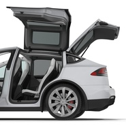 Tesla Model X Rigged. Preview 63