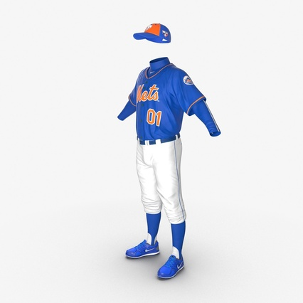 Baseball Player Outfit Mets 2. Render 9