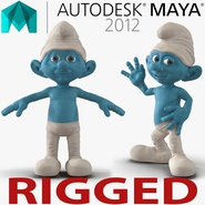 Smurf Rigged for Maya. Preview 1