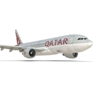 Jet Airliner Airbus A330-200 Qatar. Preview 30