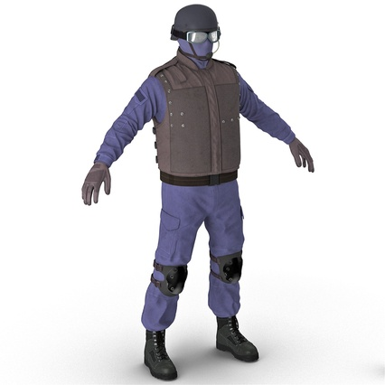 SWAT Uniform. Render 6