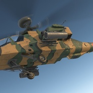 AH-64D Apache Longbow Japan Rigged. Preview 7