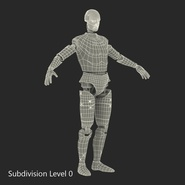 Male Crash Test Dummy Rigged for Cinema 4D. Preview 40
