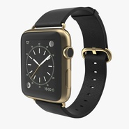 Apple Watch Classic Buckle Black Leather 2
