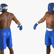 African American Boxer Rigged for Cinema 4D. Preview 14
