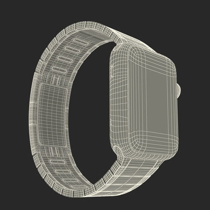 Apple Watch 38mm Link Bracelet Dark Space 2. Render 43