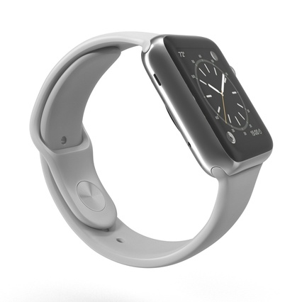 Apple Watch Sport Band White Fluoroelastomer 2. Render 9