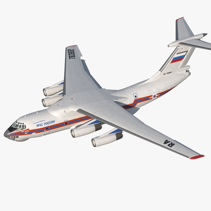 Ilyushin Il-76 Emergency Russian Air Force Rigged. Render 1