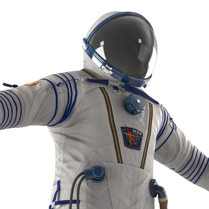 Russian Space Suit Sokol KV2 Rigged. Render 31