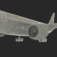Jet Airliner Airbus A330-200 Northwest Airlines Rigged. Preview 72